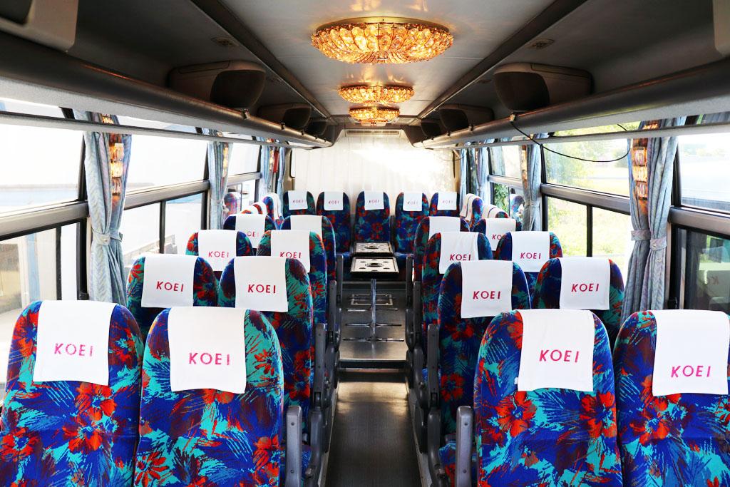 中型バスの座席配置